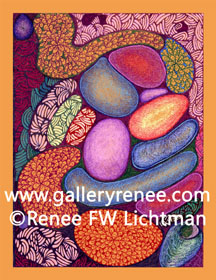 """Ashley Abstract"" Ballpoint Pen Art, Ballpoint Pen Art Gallery, Artist Renee FW Lichtman"