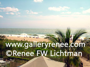 """On a Beach""  Digital Photography, Landscape Art Gallery, Artist Renee FW Lichtman"