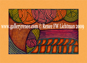 """Slide Rule the Infinite""  Ballpoint Pen Art, Abstract Art Gallery, Artist Renee FW Lichtman"